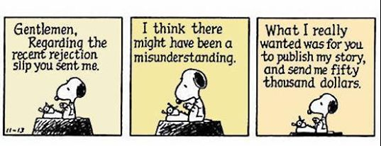 Peanuts cartoon - writing expectations