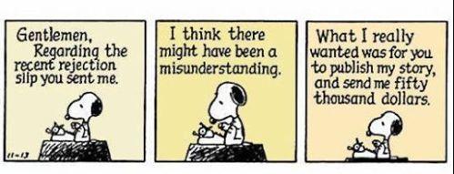 Peanuts cartoon - writing expectations